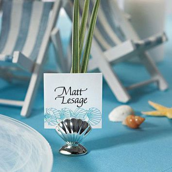 Sea Shell Silver Place Card Holders (Pack of 8)