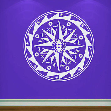 Wall Decals Mandala Om Yoga Compass Decal Fashion Bedroom Home Decor Vinyl MR368