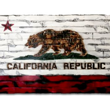 California State Flag with White Boards