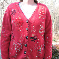 Christmas sweater, tacky christmas sweater, tacky christmas sweater party, tacky sweater, christmas, winter sweater, vintage sweater