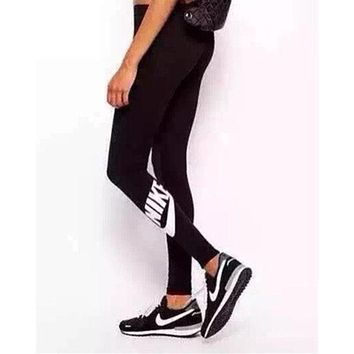 """NIKE"" Trending Women Letter Print Sport Yoga Stretch Pants Trousers Sweatpants Gym Jogging Exercise Casual Sportswear I"