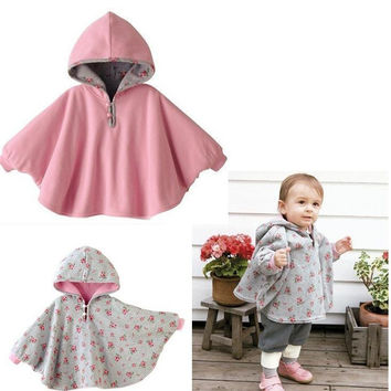 New 2016 Fashion Combi Baby Coats boys Girl's Smocks Outwear Fleece cloak Jumpers mantle Children's clothing Poncho Cape