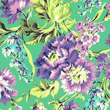 Love Bliss Purple Floral Fabric By The Yard | 100% Cotton