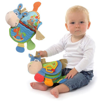 Soft Folding Interactive Baby Toy with Sounds and Teethers