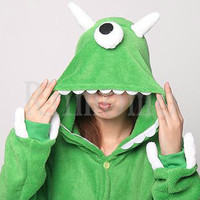 One Eyed Monster Costume  Kigurumi Pajamas Adult  Unisex Cosplay Romper Monsters coral fleece Mike Wazowski Sullivan  Pyjamas Unisex
