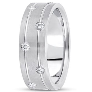 0.36ctw Diamond 14K Gold  Wedding Band (7mm) - (F - G Color, SI2 Clarity)