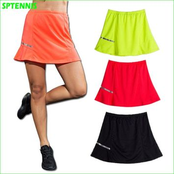 Women's Tennis Skirt With Reflective Tape Pingpong Badminton Volleyball Training A-line skirts  Anti-exposure