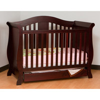 Walmart: Storkcraft - Vittoria Fixed Side Convertible Crib, Cherry