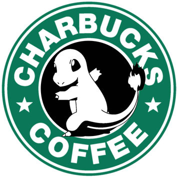 Pokemon Charbucks Coffee T Shirt