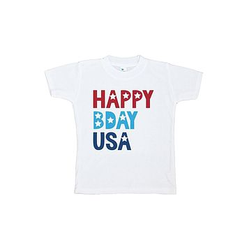 Custom Party Shop Kids Happy Bday USA 4th of July T-shirt