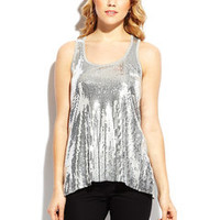 ideeli | AMOURETTE Sequined Twist Tank