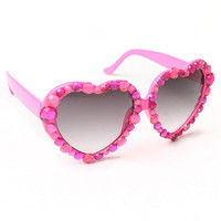 Lolita Gems Heart (Pink) Sunglasses