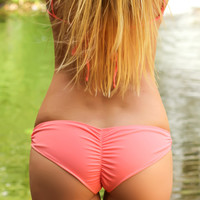 Coral *Okole* Boy Short Scrunch Butt Bikini Bottoms