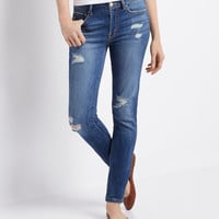 Aeropostale  High-Waisted Destroyed Medium Wash Jegging