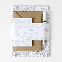 Letter Writing Set – Illustrations – Letter Set – Correspondence Kit – Writing Paper – Eco-Friendly Letter Set with Pen