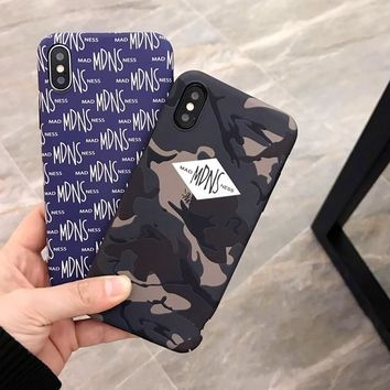 Trendy Camouflage MDNS Print Iphone X 8 8 Plus & 7 7plus & 6 6s Plus Cover Case