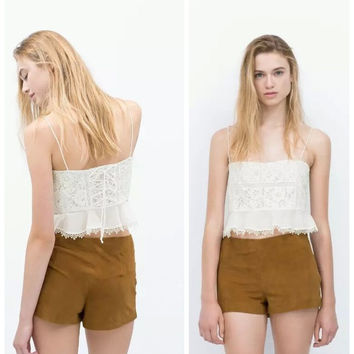 Summer Women's Fashion Suede Shorts [6513355783]