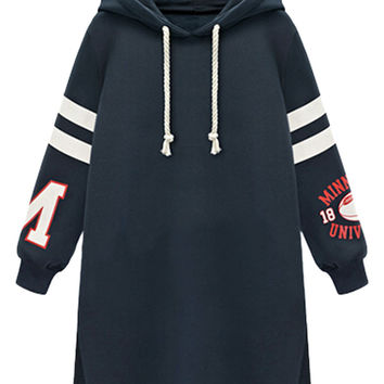 Dark Blue Hooded Sweatshirt