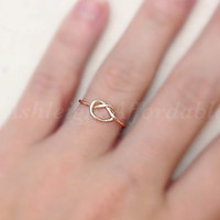 Custom Wire Knot Ring (MADE TO ORDER) Tie The Knot, Bridesmaid ring, Silver Ring, Gold Ring, Copper Ring, Bridesmaid Gift, Infinity Ring