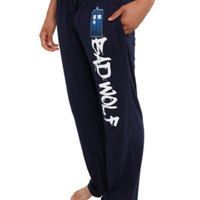 Doctor Who TARDIS Bad Wolf Guys Pajama Pants