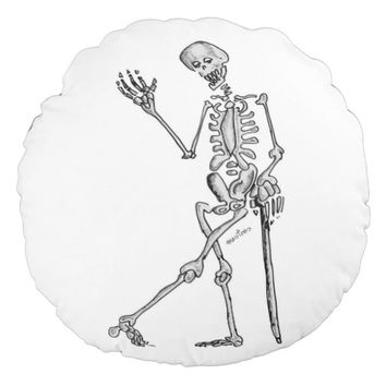 Skeleton Round Pillow
