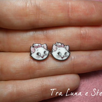 Earrings kitten Marie Aristocats, Disney - cute