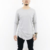 Lamar Long Sleeve Zipper Shirt (Grey)