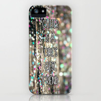 Glitter is a Girl's Best Friend iPhone Case by Beth - Paper Angels Photography | Society6