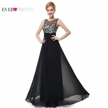 Sparkle Prom Dresses Wedding Long Black Elegant Lace Appliques Evening Gown