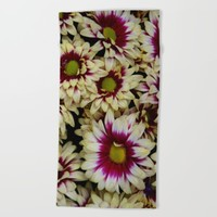 Multi color daisies! Beach Towel by Littlesilversparks | Society6