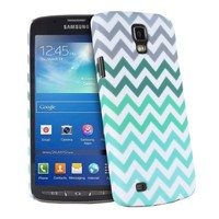 Fosmon MATT Series Rubberized Chevron Case for Samsung Galaxy S4 Active / I9295 (Mint)