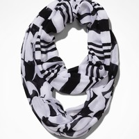 FLORAL AND STRIPE INFINITY SCARF