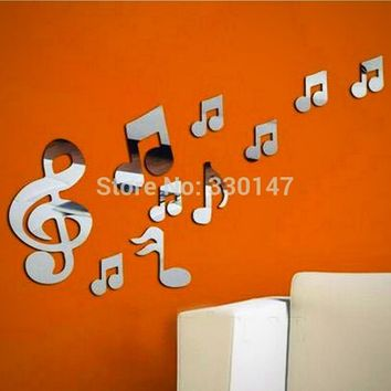 Musical Note 120*80cm Acrylic Reflective Mirrors