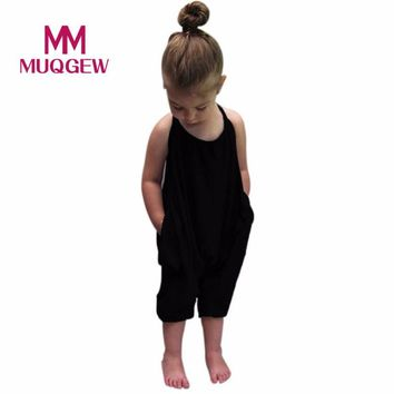 MUQGEW Kid Baby Girls Straps Rompers Jumpsuits Piece Pants Clothing