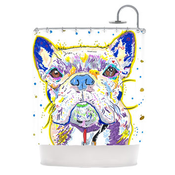 "Rebecca Fischer ""Niko"" French Bulldog Shower Curtain"