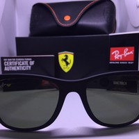 New Ray-Ban Scuderia Ferrari Wayfarer Liteforce Polarized Sunglasses RB4195M