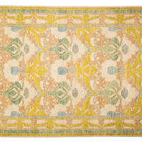 """6'2""""x9'1"""" Art & Craft Knotted Rug, Green, Area Rugs"""