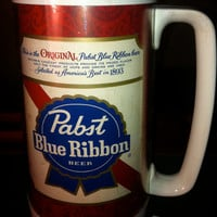 Pabst Blue Ribbon Beer Thermo Mug
