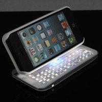 New Gernaration Sliding Bluetooth Keyboard Case For Iphone 4/4s/5