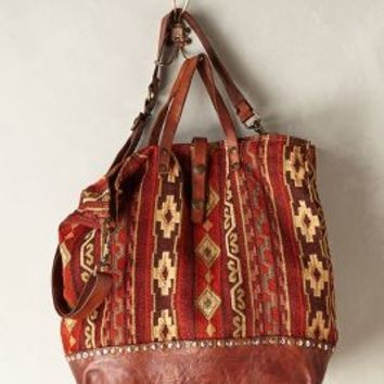 Chalet Carpet Tote by Campomaggi Wine One Size Bags