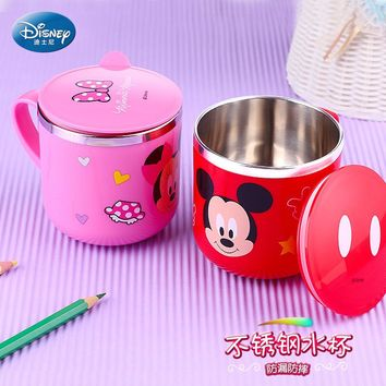 Vacuum Cup Thermos Water Bottle  Water Cup Tea Mug Stainless Steel Vacuum Cups Water Bottle Children Mickey