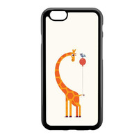 Cartoon Giraffe Baloon & Bird iPhone 6 Case