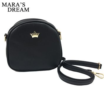Mara's Dream Small Women Bag Imperial Crown Designer Women Messenger Bags Lady Shoulder Crossbody Bag Female PU Leather Handbags
