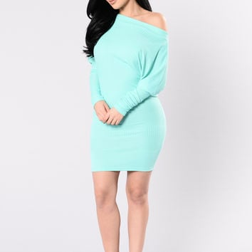 I'm Not Your Toy Dress - Dusty Mint