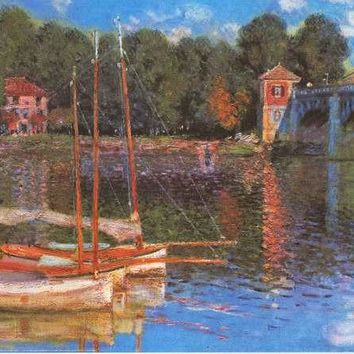 Claude Monet Argenteuil Bridge Poster 24x36