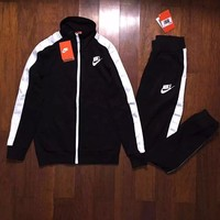 Fashion Online Nike Fashion Top Jacket Pants Sweatpants Set Two-piece Sportswear