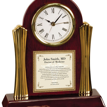 Medical School Graduation Gift Poetry Clock