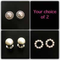 Pearl plugs / 6g, 2g, 0g, 00g, 1/2, 9/16, 5/8, 11/16, & 3/4 / wedding plugs / pearl gauges