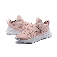Under Armour Curry 5 Pink White Men Sneaker