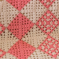 Crocheted Afghan Babies Blanket / Pink and White Granny Afghan Blanket / Gift for Baby Shower / Ready to Shipping